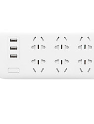 abordables -xiaomi smart power strip indicador led salidas múltiples simples fáciles de configurar con puerto usb 1pack plastics pc plug-in on / off