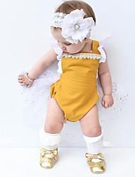 povoljno -Dijete Djevojčice Special Leather Types Jednobojni Dnevno Izlasci Proljeće Ljeto Bez rukávů Jednodijelno Ležerne prilike Bijela