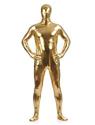 """Недорогие -Костюмы на все тело """"зентай"""" Кожаный костюм Ниндзя Костюмы зентай Косплэй костюмы Золотой Однотонный Костюмы зентай Спандекс клей Муж. Жен. Хэллоуин Маскарад"""