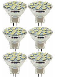 billiga -SENCART 6pcs 5W / 80W 260lm MR11 LED-spotlights MR11 15 LED-pärlor SMD 5060 Dekorativ Varmvit / Kallvit 12V