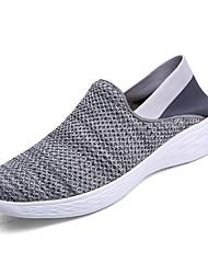 abordables -Homme Chaussures Tricot Printemps Automne Confort Basket Marche Creuse pour Décontracté Gris Bleu