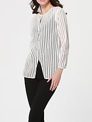 preiswerte -Damen Gestreift Hemd Grundlegend