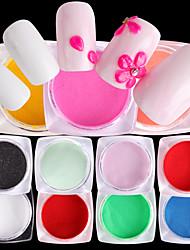 abordables -10pcs Poudre de paillettes Glitters Mode Conseils d'art des ongles Nail Art Design