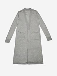 ženski dnevni jednostavni vuneni jakni v džempera, dugi rukavi proljetni jesen