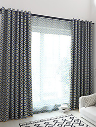 cheap -Printed Bedroom Blackout Polyester Blend metal Blackout