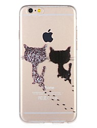abordables -Funda Para Apple iPhone 8 iPhone 7 Diseños Funda Trasera Gato Caricatura Suave TPU para iPhone 8 Plus iPhone 8 iPhone 7 Plus iPhone 7