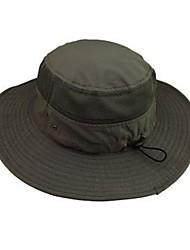 baratos -Boné de Pescador Boné Com Proteção UV Chapéu de Sol Verão Resistente aos raios UV Equitação Pesca Exercicio Exterior Unisexo Algodão