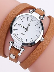 Недорогие -Жен. Уникальный творческий часы Китайский Имитация Алмазный сплав / PU Группа На каждый день / Мода Черный / Белый / Синий