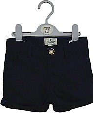 cheap -Boys' Daily Solid Pants, Cotton Summer Short Sleeves Simple Casual Navy Blue Light Blue