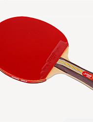 abordables -DHS® 3003 3002 FL Ping Pang/Tabla raquetas de tenis Caucho 3 Estrellas Mango Largo Las espinillas