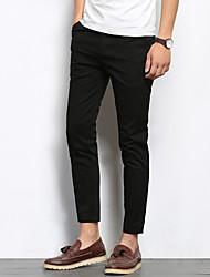 abordables -Hombre Chic de Calle Algodón Delgado Traje Chinos Pantalones - Un Color