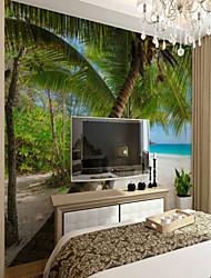 baratos -Árvores/Folhas Art Deco 3D Decoração para casa Clássico Modern Revestimento de paredes, Tela de pintura Material adesivo necessário Mural