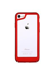 Недорогие -Кейс для Назначение Apple Кейс для iPhone 5 iPhone 7 Ультратонкий Кейс на заднюю панель Однотонный Твердый ПК для iPhone 8 Pluss iPhone 8