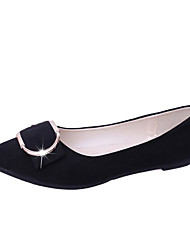 abordables -Femme Chaussures Polyuréthane Printemps Automne Confort Ballerines Talon Plat pour Noir Gris Rose