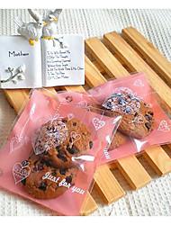 baratos -Forma quadrada Plástico Suportes para Lembrancinhas com Estampa Coração Bolsas de Ofertas - 1conjunto