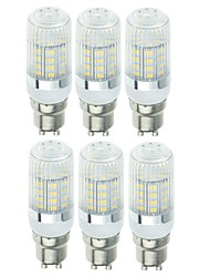 abordables -SENCART 6pcs 5W 900lm E14 / G9 / GU10 Ampoules Maïs LED T 40 Perles LED SMD 5730 Décorative Blanc Chaud / Blanc Froid 220-240V / 110-120V