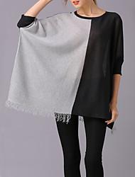 economico -Per donna sofisticato Pullover Monocolore