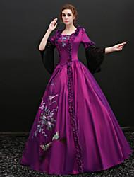 abordables -Conte de Fée Costume de père noël Renaissance Costume Femme Robes Costume Bal Masqué Costume de Soirée Tenue Violet Vintage Cosplay