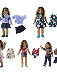 cheap -Fashion Doll Baby Girl 18inch Eco-friendly, Easy dressing Girls' Kid's Gift