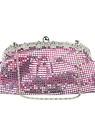 cheap -Women's Bags Metal Evening Bag Rivet for Wedding Event/Party Spring All Seasons Gold Black Blushing Pink