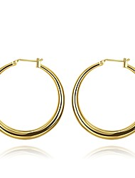 cheap -Women's Rose Gold Plated Hoop Earrings - Formal / Basic Gold / Rose Gold Circle Earrings For Daily / Office & Career