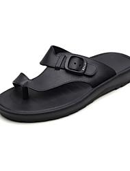 cheap -Men's Shoes PU Summer Comfort Slippers & Flip-Flops Black / Blue