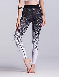preiswerte -Damen Yoga-Hose - Schwarz / Weiß Sport Geometrisch, Farbverläufe Leggins / Unten Sportkleidung Atmungsaktivität, Weichheit Dehnbar