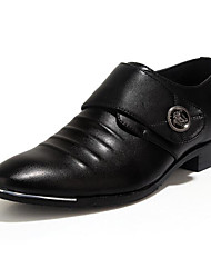 povoljno -Muškarci Cipele PU Proljeće Jesen Udobne cipele Natikače i mokasinke za Kauzalni Crn