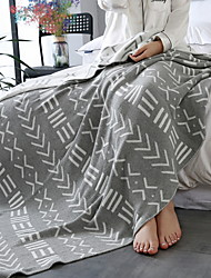 cheap -Knitted, Jacquard Geometric Cotton Blankets