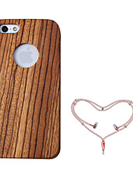 cheap -Case For Apple iPhone 5 Case Shockproof Full Body Cases Wood Grain Hard Wooden for iPhone 5