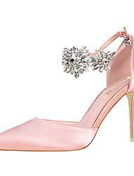 baratos -Mulheres Sapatos Lycra Primavera Verão Plataforma Básica D'Orsay Saltos Salto Agulha Dedo Fechado Dedo Apontado Pedrarias para Escritório