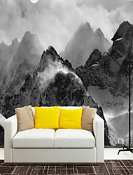 cheap -Art Deco 3D Stone Home Decoration Vintage Modern Wall Covering, Canvas Material Adhesive required Mural, Room Wallcovering