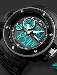 Недорогие -SKMEI Муж. Повседневные часы Спортивные часы электронные часы Цифровой 50 m Защита от влаги Календарь Секундомер PU Группа Аналого-цифровые Роскошь На каждый день Черный - Красный Зеленый Синий
