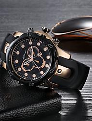 Недорогие -SHIFENMEI Муж. Модные часы Повседневные часы Кварцевый Календарь Крупный циферблат Повседневные часы силиконовый Группа Роскошь Мода