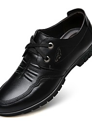 cheap -Men's Shoes Leather Spring Fall Formal Shoes Comfort Oxfords for Casual Office & Career Black Brown