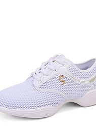 economico -Per donna Sneakers da danza moderna Maglia traspirante Sneaker Basso Personalizzabile Scarpe da ballo Bianco / Nero