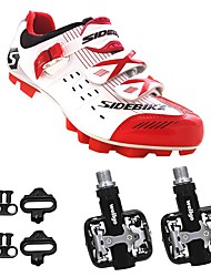 cheap -SIDEBIKE Bike Cycling Shoes With Pedals & Cleats Mountain Bike Shoes Adults' Cushioning Road Bike Outdoor Cycling / Bike