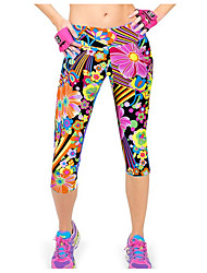 cheap -Women's Print Legging - Print, Geometric Mid Waist