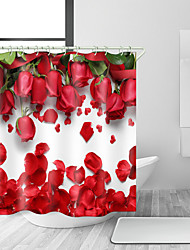 cheap -Shower Curtains & Hooks Modern Polyester Novelty Machine Made