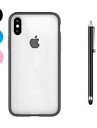 economico -Custodia Per Apple iPhone X iPhone 8 Plus Resistente agli urti Transparente Per retro Tinta unica Morbido TPU per iPhone X iPhone 8 Plus