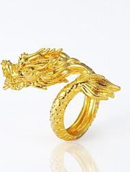baratos -Homens Anel de declaração - Chapeado Dourado Dragão, Animal Importante Ajustável Dourado Para Halloween Carnaval