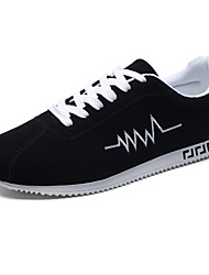 cheap -Men's Tulle Spring / Fall Comfort Sneakers Running Shoes Slip Resistant Black / Black and Red / Black / White