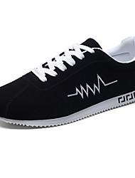 abordables -Homme Chaussures Tulle Printemps / Automne Confort Basket Course à Pied Noir / Noir et rouge / Noir / blanc