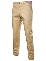 cheap -Men's Sporty Active Chinos Pants - Solid Colored