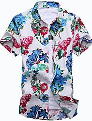 abordables -Chemise Grandes Tailles Homme, Fleur Sexy Coton