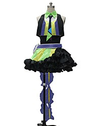cheap -Inspired by Macross Frontier Cosplay Anime Cosplay Costumes Cosplay Suits Other Sleeveless Top Skirt Gloves Belt More Accessories