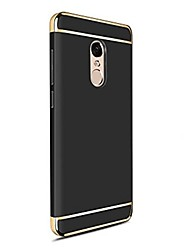 abordables -Funda Para Xiaomi Redmi 5 Plus Redmi Note 4X Cromado Funda Trasera Color sólido Dura ordenador personal para Redmi Note 5A Xiaomi Redmi