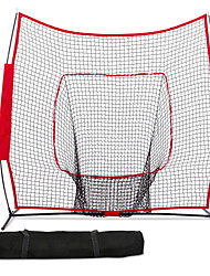 cheap -7'×7' Baseball / Softball Net Practice Hitting Pitching Batting Catching Trainer Folding Training Aids 600D Polyster Oxford