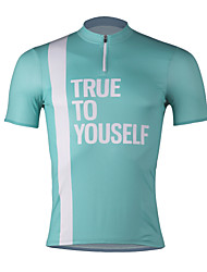 cheap -SPAKCT Men's Short Sleeve Cycling Jersey - Sky Blue / Green / Khaki Bike Jersey, Quick Dry / Expert / YKK Zipper / Italy Imported Ink / Breathable Armpits