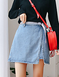 cheap -Women's Simple Bodycon Skirts - Solid Colored